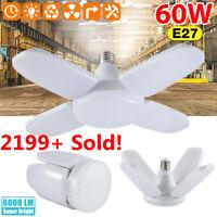 60W 6000lm E27 LED Garage Geschäft Arbeit Deckenlicht Einbau Deformable Lampe US