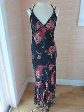 Sue Wong NWT Empire Waist 100% Silk Beaded Straps Asymetrical Hem Dress sz 4
