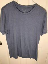 mens 2xl white t shirt with blue stripes XXL