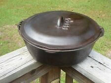 Lodge #12 Cast Iron Dutch Oven with basting Lid