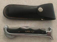 SUPER FLY STAINLESS FOLDING POCKET KNIFE WITH SHEATH KSS TAIWAN NICE
