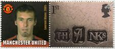 LAURENT BLANC Manchester United Football Club Stamp & Smiler Label (GB 2002)