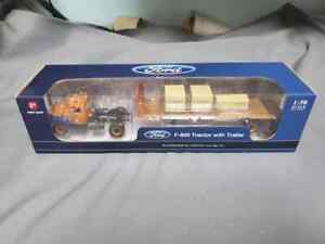 """First Gear #3233 Ford F800 """"Allis-Chalmers"""" tractor and trailer. 1/50th scale."""