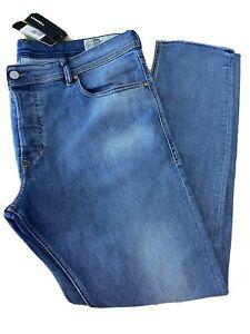 "New DIESEL ""TEPPHAR"" Slim Carrot Stretch Distressed Blue Jeans 40 x 32 NWT 084SV"