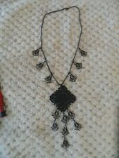 Goth Emo Punk attractive black metal necklace