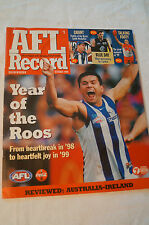 AFL Footy Record - 1999 - Year of The Roos