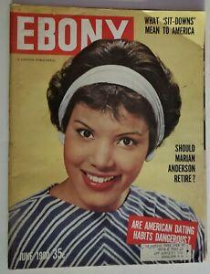 1960 Ebony Magazine Lulu Guerrero Negro Baseball Stars Marian Anderson