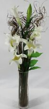 cream artificial lily and dried Bouquet HOME   CONSERVATORY no vase Weddings