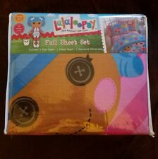 LALALOOPSY FULL SHEET SET 1 Flat 1 Fitted 2 Pillowcases NIP