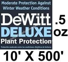 DeWitt Deluxe 10' X 500' .5 oz Frost Cloth Freeze Protection Blanket Deluxe10