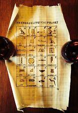 Vintage Egyptian Hand Painted Papyrus- Hieroglyphic Alphabet- 1960's
