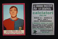 ***CALCIATORI PANINI 1967/68*** ENZO FERRARI (GENOA)