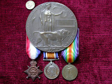 1914 Replica Copy WW1 Casualty Group - Medals & Unamed Memorial  Plaque F/Size
