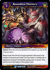 WOW WARCRAFT TCG CROWN OF THE HEAVENS : BOUNDLESS THIEVERY X 4
