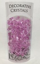 DECORATION CRYSTALS Scatter Table ACRYLIC CONFETTI WEDDING HOME DECOR PINK