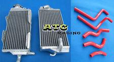 Aluminum Radiator & hose for Honda CR125R CR 125R CR125 2000-2001 00 01 RED