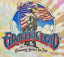 Vintage 80s 1985 GRATEFUL DEAD Rock Concert T SHIRT Thrashed Burnout Thin Soft L