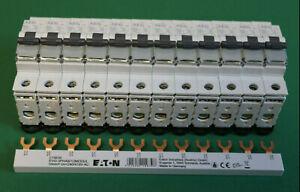 12x Sicherung Automat AEG EP61 B16 -1pol. LS Schalter +1x Phasenschiene SET