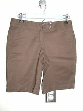 Ann Taylor Womens Size 0P (29) Brown Casual/Dress Shorts Stretch 22-10095