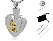 Memorial Cremation Jewelry,Pendant,Urn,Keepsake for Ashes,Cremation Urn Bear