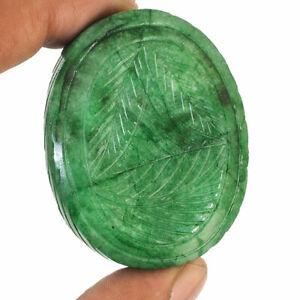 392.30 K Naturale Intagliato Smeraldo Eccellente Verde Fantastico Grande Gemma