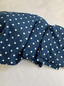 Pottery Barn TEEN Dottie Queen Sheet Set Fitted Pillowcases Royal Navy Blue