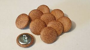 10 Upholstery buttons in Antique Tan Faux leather look 20mm