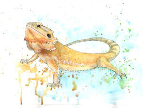Signed Limited Edition Reptile Print - Bearded Dragon Exotic Series - A4