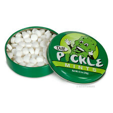 Dill Pickle Mints - Tin Contains 100 Savory Pickle Mints - Novelty Fun Gag Gift