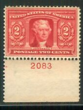 U.S. - 324 - Plate Number Single (2083) - Very Fine - Never Hinged