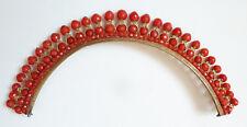 Diadème corail + vermeil + or 19e siècle silver comb tiara peineta coral comb