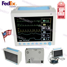 "FDA&CE 12.1"" LCD Portable Vital Signs ICU Patient Monitor 6 Parameters,US Seller"