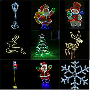 Large Christmas Rope Light Xmas Lights Decoration Silhouette Outdoor Garden