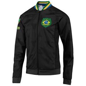 Veste Brésil Adidas Originals Aop Firebird Rare Team Brazil Jacket F77290 Noir L