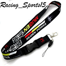 JDM HONDA MUGEN BLACK Lanyard Neck Phone Key Chain Strap Quick Release CIVIC SI