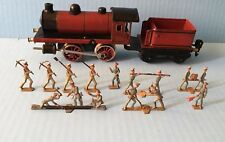 Antique German semi flat figures for Marklin O gauge railroad train Spenkuch