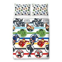 Marvel Avengers 'Strong' Rotary Double Bed Duvet Quilt Cover Set Brand New Gift