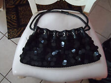 Black Woven shoulder Bag with bling by Chateau