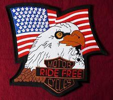XXL Aufnäher Adler USA Fahne Motorrad Indianer Biker free Rider Patch Aufbügler