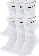 Nike Everyday Cushioned Crew, Tennissocken, Sportsocken, SX7666, 6 Paar, weiß