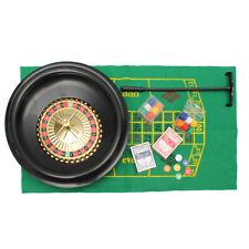 16''Deluxe Poker Roulette Wheel Casino Game Table Set Bar BlackJack Rake Layout