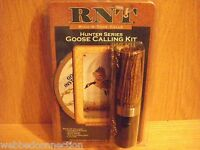 New RNT Rich-N-Tone Goose Hunter Series Call Combo Kit Becote Wood & DVD Lanyard