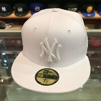 New Era 59FIFTY New York Yankees Fitted Hat Cap All White
