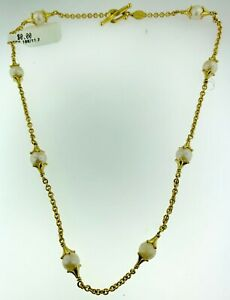 Paul Morelli 18K Yellow Gold & Fine Pearls Ornate Toggle Necklace~WOW!