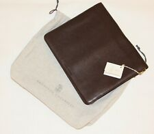 2170$ Brunello Cucinelli 100% Leather Multi Document Case Holder.