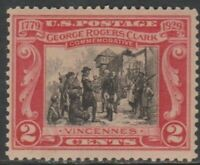 Scott# 651 - 1929 Commemoratives - 2 cents George Rogers Clark (MH)