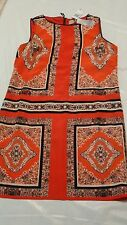 Philosophy. Multi Color Red/Black/White Shift Dress. Size 12. NEW