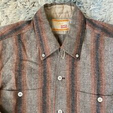 Levis Vintage 50s Small Wool Board Shirt Loop Big E Shadow Stripe Ombre Styled
