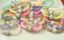 wholesale 5pcs Crystal Wrap classic Mesh Magnetic Clasp Bracelet 2015 Hot s22