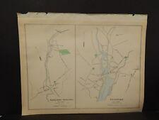 Conneticut, Fairfield County Map City of Danbury Dbl Side Dbl Pg 1893 R4#96